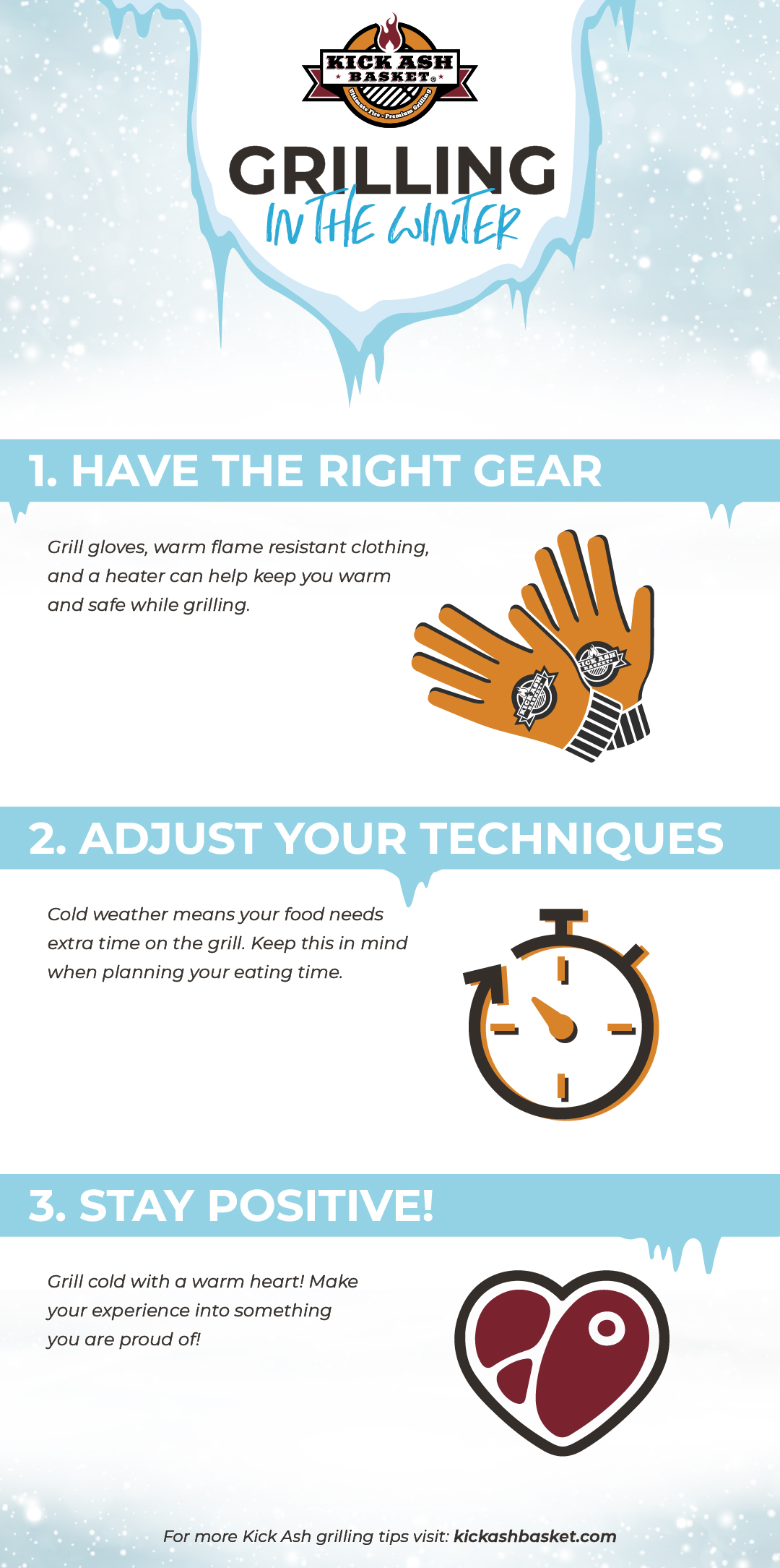 Winter grilling infographics