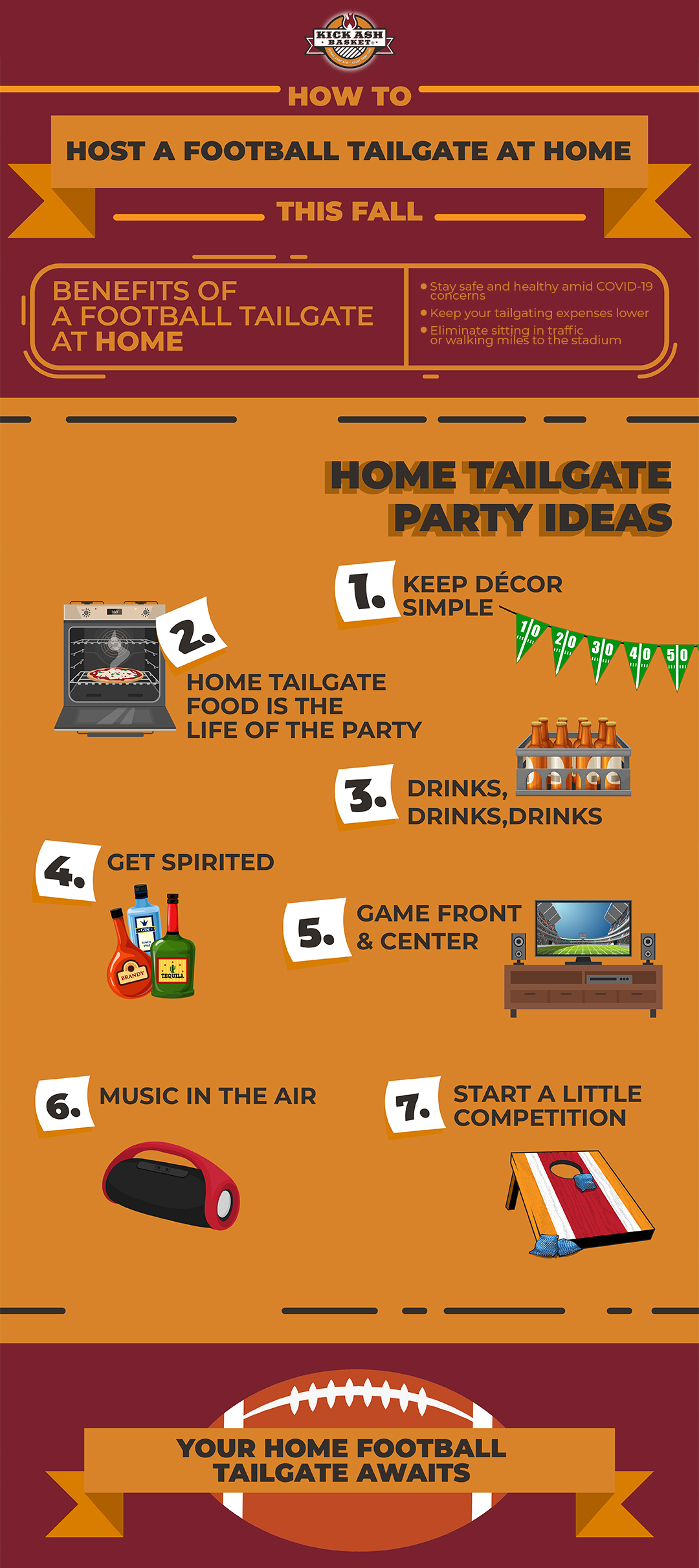 image guide on how to host a tailgate at home