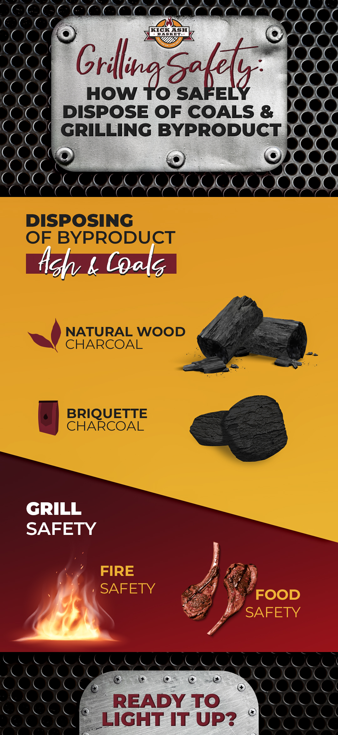 guide on how to safely dispose coals & grilling byproducts
